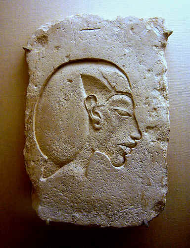 fragment of demolished relief depicting Akhenaten by ggnyc.